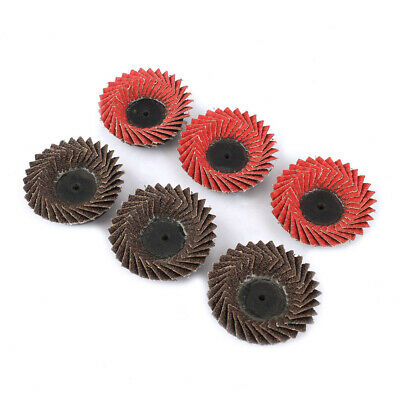 6Pcs 2 Inch Flap Disc Abrasive Tool For Metal Surface Rust Removing Polishing