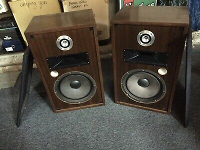 vintage 70's stereo speakers cabinet style 3way powerful