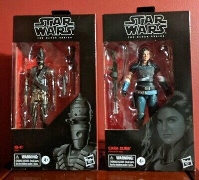 Star Wars Black Series 6 Inch Cara Dune IG-11 Set From The Mandalorian IN STOCK!