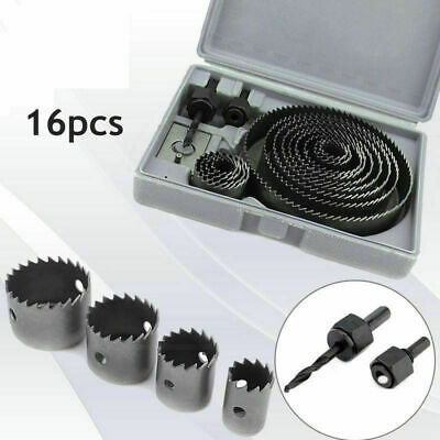 16pc Down Lights Hole Cutter Saw Holesaw Kit Set In Plastic Moulded Case 58139