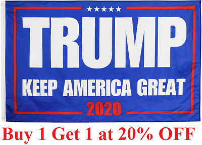 1 Trump 2020 President Donald trump Make America Great 3x5 Ft Flag US