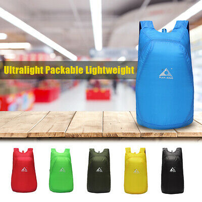 20L Lightweight Packable Backpack Foldable Outdoor Camping Hiking Cycling R4E9