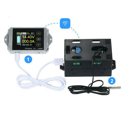 Wireless Color Screen Coulomb Counter Digital Voltmeter Volt Battery Monitor