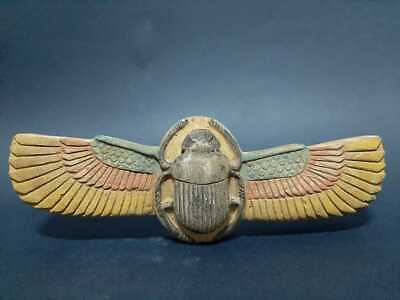 Rare ANCIENT EGYPTIAN ANTIQUES Winged Scarab Beetle Khepri Good Luck 1749-1679BC