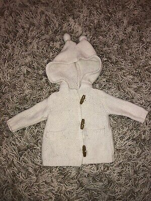 Cotton On Baby Boy Girl Hooded Knit Cardigan Jacket Size 000 (0-3 months)
