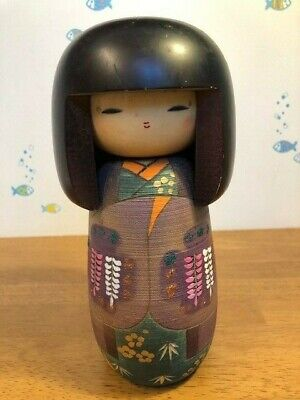 Kokeshi traditional Japanese crafts 藤川 正衛 / Fujikawa Masae Wisteria kokeshi