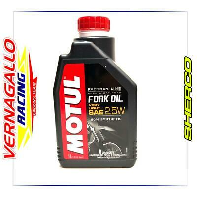 OLIO FORCELLE 5LT MOTUL Sae 2,5W Fork Oil Forcella Very Light 100% Factory Line
