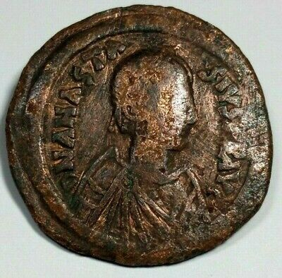 LARGE BRONZE 17.73g * 3.7cm BYZANTINE JUSTINIAN COIN /409
