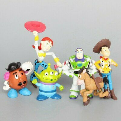 6pcs Toy Story 4 Shepherdess Buzz Lightyear Alien Woody Mr.Potato Head Xmas Gift