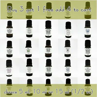 Essential Oils 10 ML  5 ML 15 ML Pure & All Natural  Aromatherapy Oil