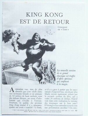 Article sur King Kong 4 pages  avril 1977