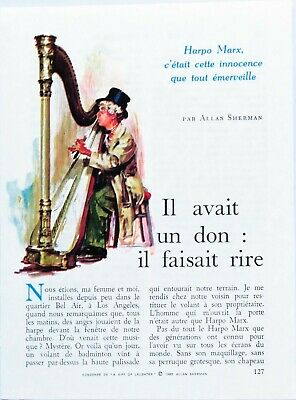Article Harpo Marx 4 pages  Mars 1966 P1012278