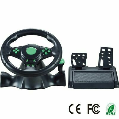 Volante de carreras Gaming Vibration 23cm y pedales para Xbox 360 PS3 PC USB