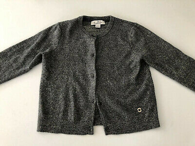 Massimo Dutti Girls Grey Sparkle Cardigan Age 5-6