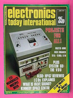 ELECTRONICS TODAY INTERNATIONAL Magazine - June 1977 - Bass Enhancer