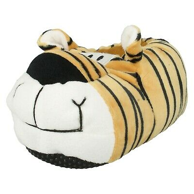 Unisex Spot On Warm  Kids Tiger Novelty Slippers Childrens Boys Girls