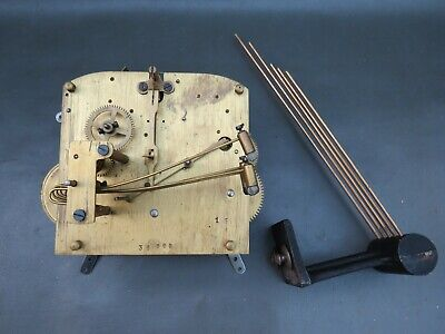 Vintage mantel clock movement and chimes for repair or spares