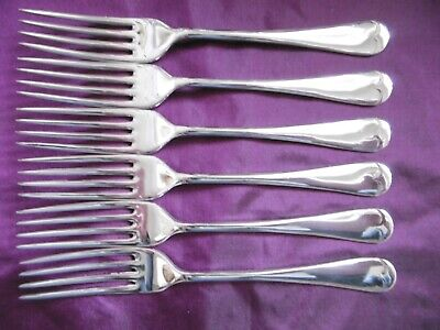 Lovely Set Of 6 Thomas Russell Silver Plated Epns Old English Dinner Forks