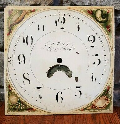 Antique Grandfather Long Case Clock Face - T. Hay - Shrewsbury