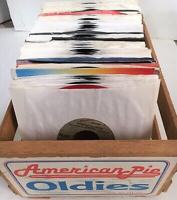 """Lot of 50 Jukebox 45's Records 7"""" 45 rpm Vintage Music Singles w/ Sleeves Minty"""