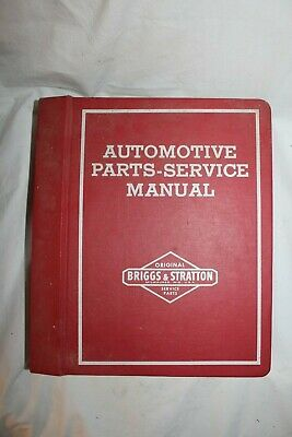 Vintage Briggs and Stratton Automotive Parts Service Manual for Locksmith Work