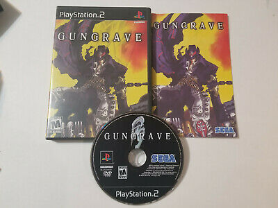 Gungrave Sony Playstation 2 PS2 Rare game complete & great, tested & FREE SHIP