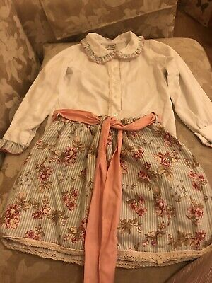 Girls Skirt and Blouse Pretty Originals Green Peach White Floral Skirt Age 6Yrs