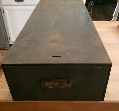 Vintage Cole Steel Metal Industrial Drawer Cabinet Drawer Free shipping!