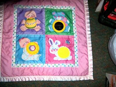 FISHER PRICE Vintage 1983 Baby Activity Quilt