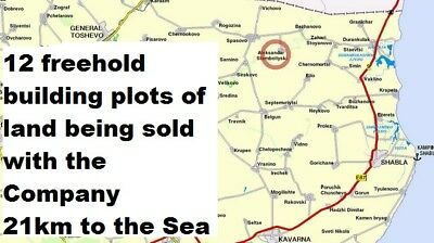 Bulgarian Company 4 sale with 12 freehold plots of land 11490 sq 21 km 2 Sea