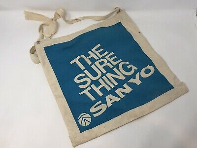 Vintage The Sure Thing Sanyo Cotton Reusble Bag Canvas