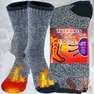 3 Pairs Mens Winter Cushioned Cotton Thermal Warm Heavy Duty Boots Socks 9-13