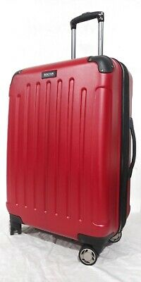"""$380 Kenneth Cole Reaction Renegade 24"""" Hard case Spinner Suitcase Luggage Red"""