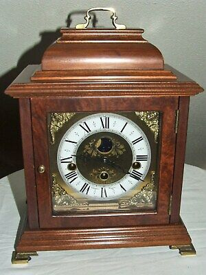 Dutch Christiaan Huygens Westminster 8 day bracket clock,Moon phase,5 hammers.