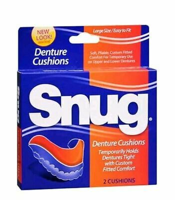 SNUG Large Size Easy Fit Denture Cushions 1 box  With 2 cushions Discontinued