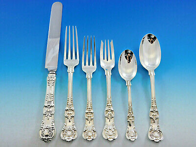 English King by Tiffany & Co Sterling Silver Flatware Set Service 51 pcs Dinner