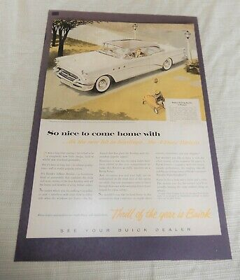 Awesome vintage 1955 Buick Magazine full page color advertisement