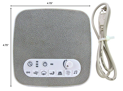 Sound Machine Sleep Therapy Plays 7 soothing sounds+ Timers & M/M Usb Cable Incl