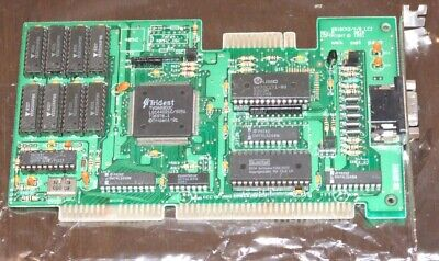 Trident TVGA8900C 16-bit ISA VGA video card also works on 8-bit PC XT computer