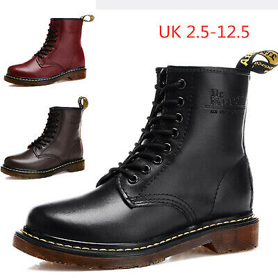 Women's Men's Dr Doc Martens 8-Eye Leather Ankle Boots Work Lace Up Casual Shoes