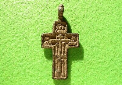 ANTIQUE 17-19th Cnt. Russian Orthodox Pectoral Cross Old Believers Christian #7