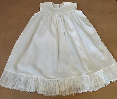 Pretty Antique Baby's Light Cotton Nightgown Petticoat