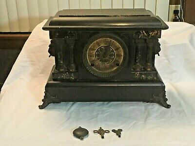 Antique 1800's Seth Thomas Adamantine Chime Mantle Clock -NEEDS REPAIR-