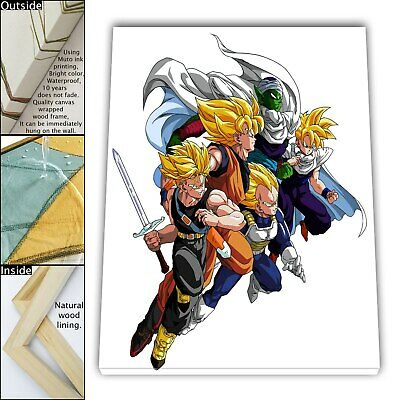 "16""x18""Dragon Ball HD Canvas print Framed Home Decor Picture Wall Art painting"