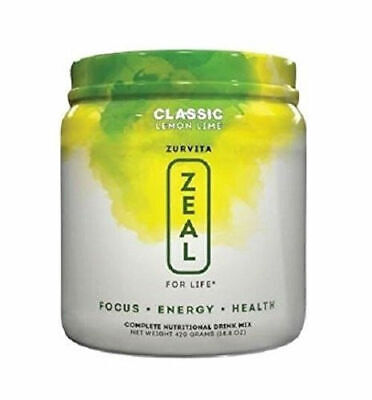 Zurvita ZEAL FOR LIFE 30 Day Supply Lemon Lime( Free Shipping)