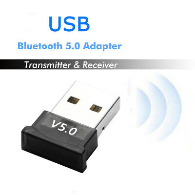1PC USB Bluetooth 5.0 Adapter Wireless Dongle Receiver For PC Win 10 8 7/XP Hot