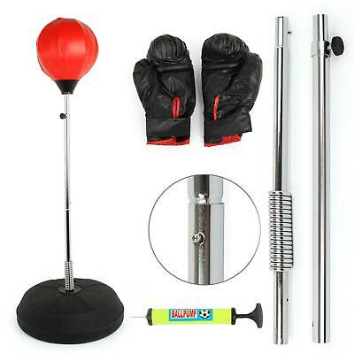 Children's Adult Free Standing Junior Boxing Punch Bag Ball Gloves Play Gift Set