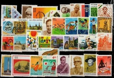 India 1990 Year Pack Full Complete Set of 35 stamps including se-tenant stamps