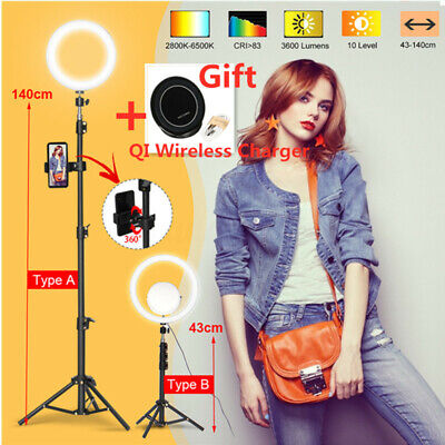 🌟12.6'' 120 LED Ring Light Dimmable bluetooth + Mirror for Make up Studio Video
