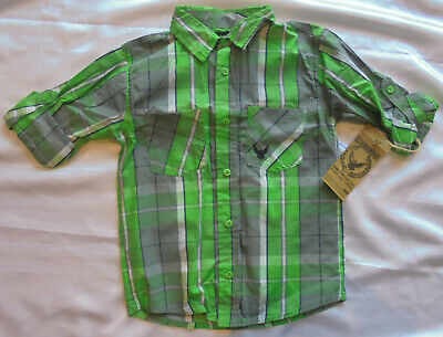 Boys Green Checked Shirt by Company 81 Age 5-6 Years BNWT